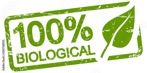 green stamp 100% BIOLOGICAL Canvas Print