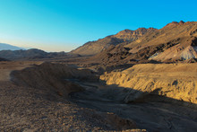 View Of The Gorge Created By Flash Floods Along The Artists Drive, Death Valley National Park, California, USA