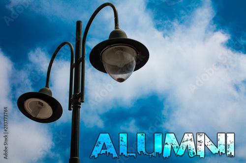 Photo Word writing text Alumni