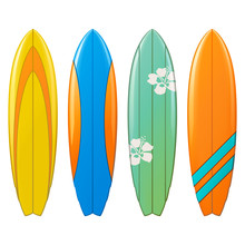 Vector Surfboard Icons