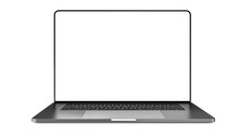 Laptop Template Isolated On Wh...