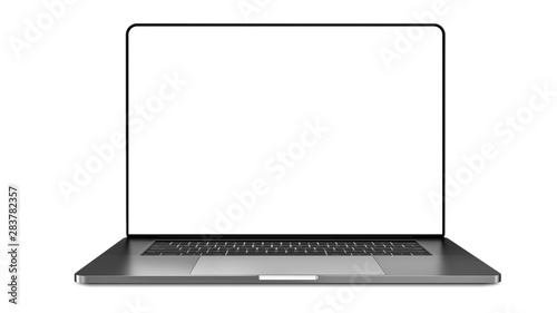 Fotografía  Laptop template isolated on white.  Template, mockup.
