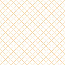 Square Grid Vector Seamless Pattern. Subtle Abstract Geometric Texture With Diagonal Cross Lines, Rhombuses, Small Grid, Mesh, Lattice, Grill, Wicker. Delicate White And Yellow Repeatable Background