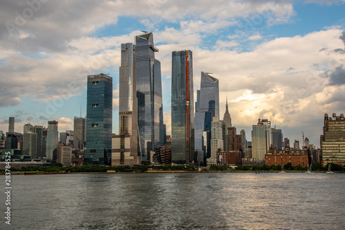 Tela Hudson Yards from a boat in the Hudson River