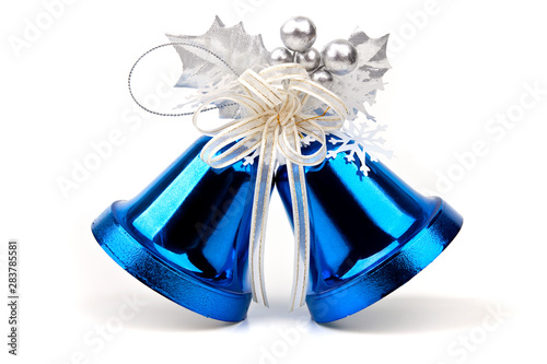 Photo Christmas bells with bows
