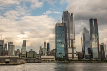 Hudson Yards From A Boat In The Hudson River