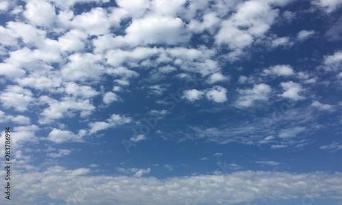 Canvas Prints Heaven clouds, sky blue background. cloud blue sky.