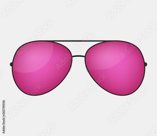 Pink vector glasses . Canvas Print