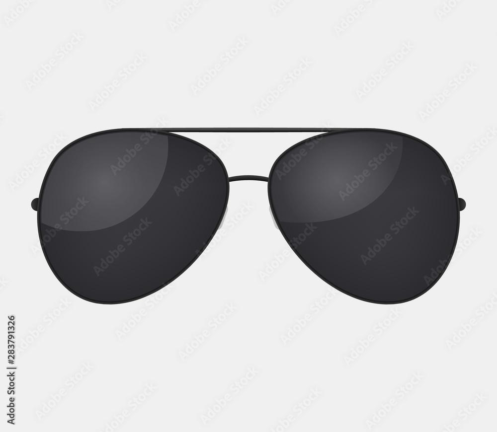 Fotografie, Obraz Aviator police isolated sunglasses .