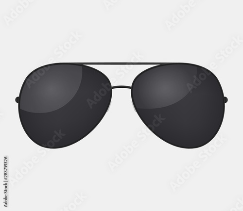 Photo Aviator police isolated sunglasses .