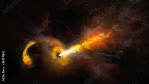 Worm hole, science fiction background. Elements of this image furnished by NASA. - 283791361