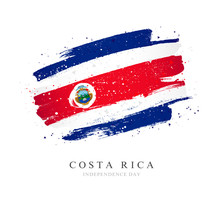Flag Of Costa Rica. Vector Illustration On A White Background.