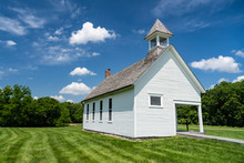 Old One Room Schoolhouse On A ...
