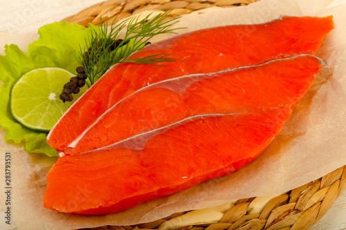 Fotografie, Obraz  Salted salmon