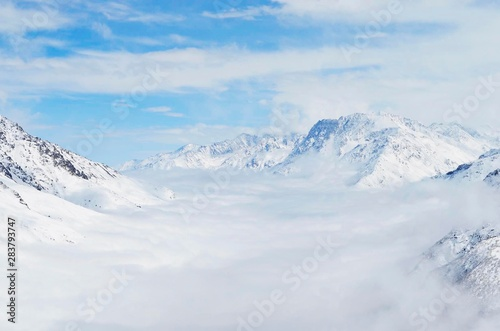 Fototapety, obrazy: mountains in winter High light cold
