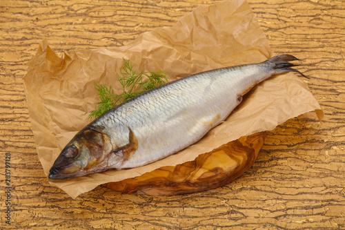 Fotografie, Obraz  Salted herring over the wooden board