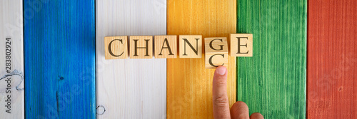 Photographie  Changing the word Chance in to Change