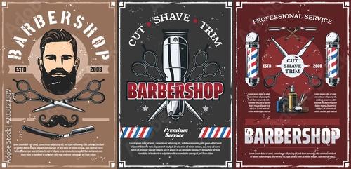 Beard shave men hairdresser, haircut barber shop