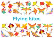Kid Cartoon Kites Animal, Bird...