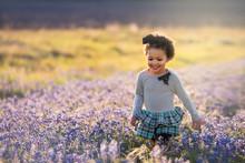 Little Girl In Flowers