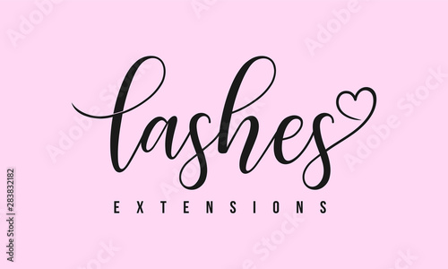 Photo logo template for beauty companies, lashes extensions
