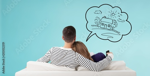 Home think dream house buy couple own - fototapety na wymiar