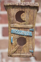 Cute Birdhouse Labeled Occupied