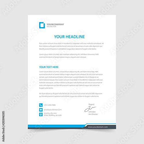 Fototapeta letterhead design template vector collection obraz