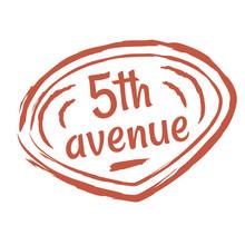 5th Avenue Flat Color Illustra...