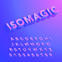 Colorful Isometric Alphabet