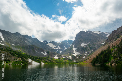 Lake Isabelle and Isabelle Glacier in the Brainard Lake Recreation Area in Colorado