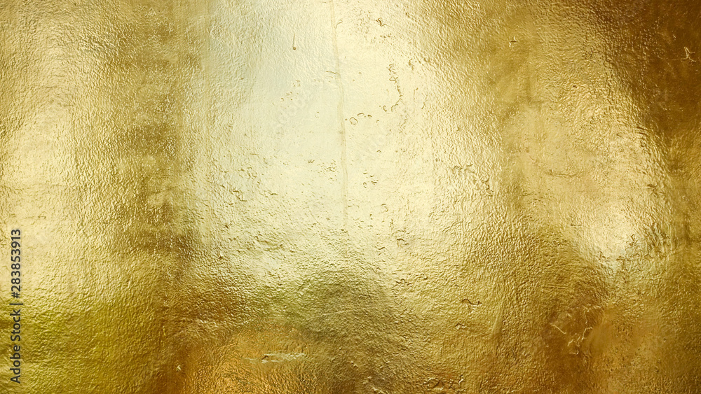 Fototapety, obrazy: Gold shiny wall abstract background texture, Beatiful Luxury and Elegant
