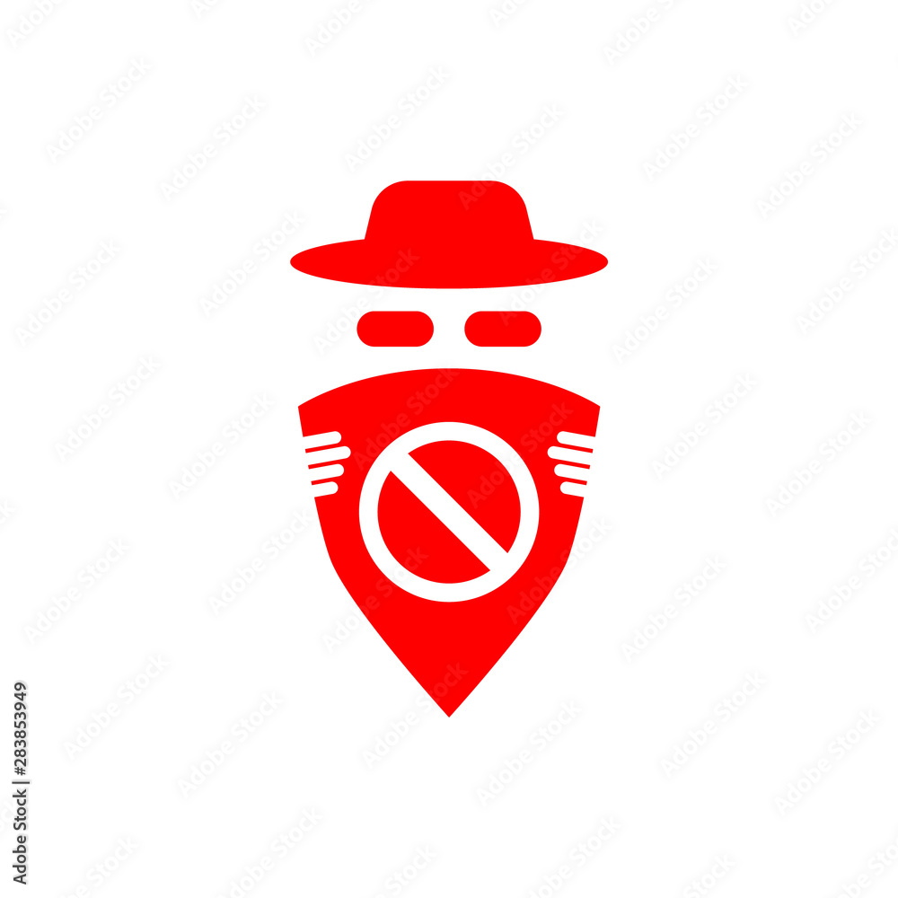 Fototapeta Anti spyware icon isolated on white background.
