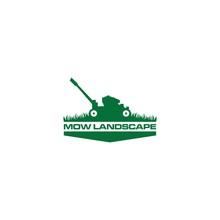 Green Mow Landscape Logo Desig...