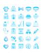 veterinary gradient flat icons
