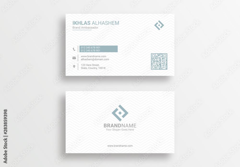 Fototapeta Modern Clean Corporate Business Card Design Template