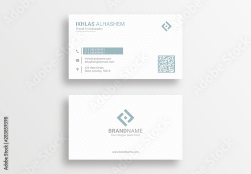 Leinwand Poster Modern Clean Corporate Business Card Design Template