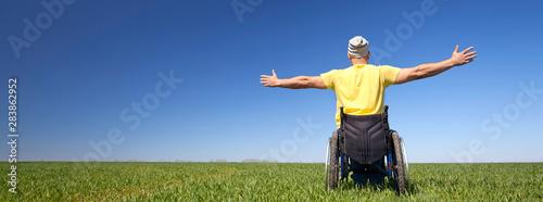 Entschlossenheit trotz Handicap Fototapet