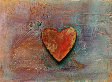 Rustic Heart On Textured Background