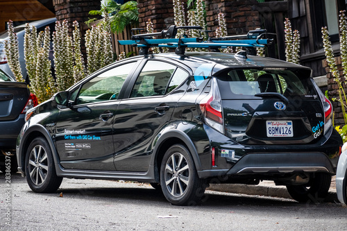 San Francisco Toyota Service >> July 13 2019 Berkeley Ca Usa Gig Car Share Is A