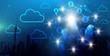 Leinwanddruck Bild - Netzwerk Cloud Konzept