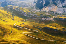 Mountain Road In Dinaric Alps,...