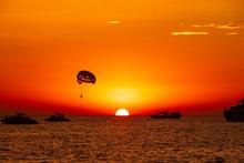 The Amazing Sunset Over Island Ibiza