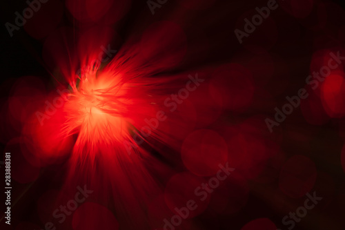 Red abstract blower in optical fiber - 283888381