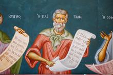 Plato, Fresco At Greek Orthodo...