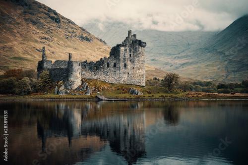 Recess Fitting Castle Kilchurn Castle on Loch Awe in Scotland