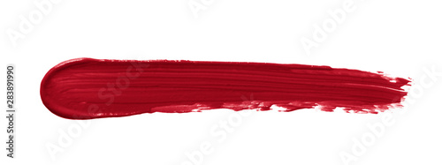 Lipstick smear smudge swatch isolated on white background Canvas-taulu
