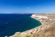 Santorini Island coastline