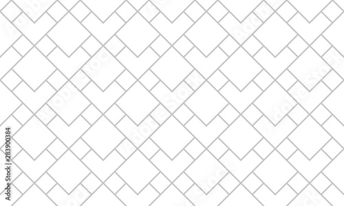 Foto auf Leinwand Künstlich The geometric pattern with lines. Seamless vector background. White and grey texture. Graphic modern pattern. Simple lattice graphic design.