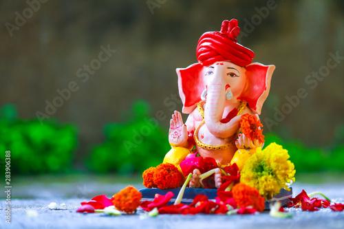 Fotografie, Obraz  Lord ganesha , Indian ganesh festival